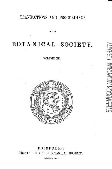 Transactions of the Botanical Society PDF