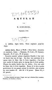 *Revue methodique et critique des collections deposees dans cet etablissement: Aquilae