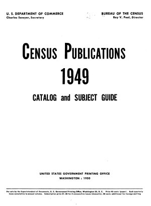 Census Publications     Catalog and Subject Guide PDF
