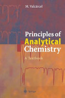 Principles of Analytical Chemistry PDF