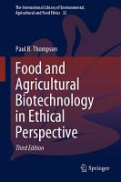 Food and Agricultural Biotechnology in Ethical Perspective PDF