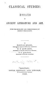 Classical Studies: Essays on Ancient Literature and Art