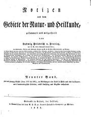 Notizen aus dem Gebiete der Natur  und Heilkunde PDF
