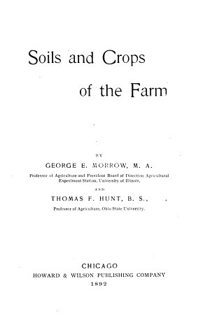 Soils and Crops of the Farm
