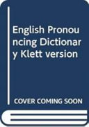English Pronouncing Dictionary Klett version PDF