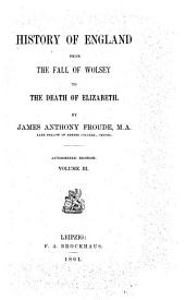 History of England from the Fall of Wolsey to the Death of Elizabeth by James Anthony Froude: Volume 3