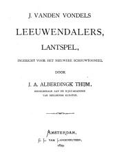 J. vanden Vondels Leeuwendalers: lantspel