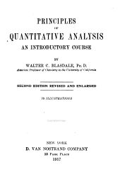 Principles of Quantitative Analysis: An Introductory Course
