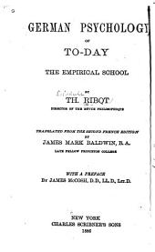 German Psychology of To-day: The Empirical School