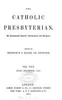 The Catholic Presbyterian  ed  by W G  Blaikie PDF