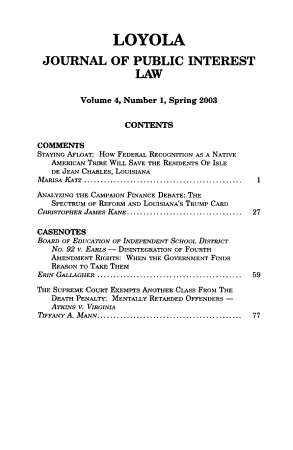 Loyola Journal of Public Interest Law PDF