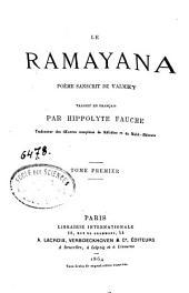 Le Ramayana: poème sanscrit