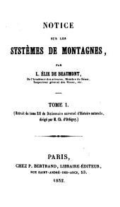 Notice sur les systèmes de montagues: Volume1