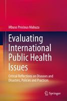 Evaluating International Public Health Issues PDF