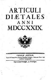 Articuli diaetales (regni Hungariae) anni 1729