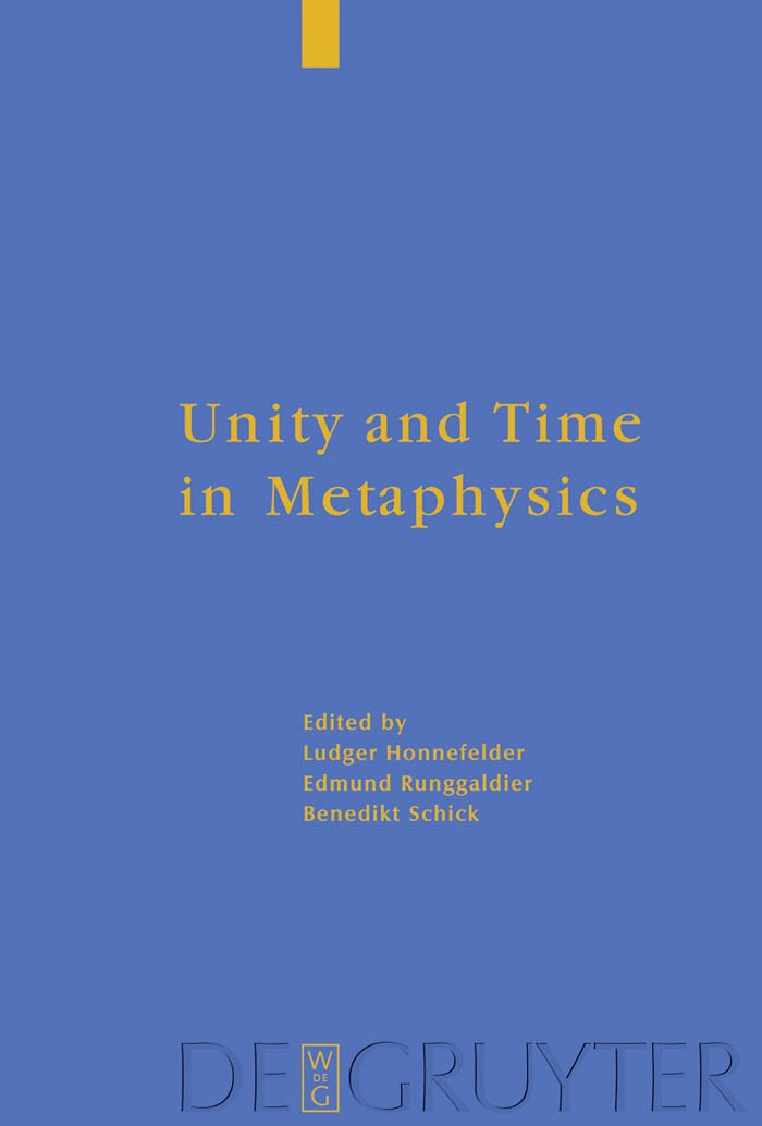 Unity and Time in Metaphysics