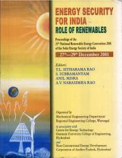 Energy Security for India   Role of Renewables PDF