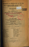 Amendments to Immigration Act of 1924  Nonquota and Preference Provisions   Certificates of Arrival   Nurses and Teachers in Porto Rico PDF