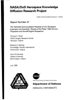 NASA DoD aerospace knowledge diffusion research project  Report number 41  The technical communication practices of U S  aerospace engineers and scientists results of the phase 1 mail survey  propulsion and aircraft engine perspective PDF