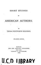 Short Studies of American Authors
