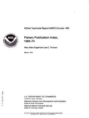 Fishery Publication Index  1965 74