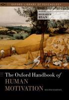 The Oxford Handbook of Human Motivation PDF