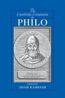 The Cambridge Companion to Philo PDF