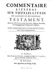 Le VI. livre des Rois, et les deux livres des Paralipomenes: 6