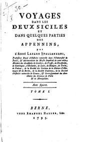 Voyages dans les Deux Siciles et dans quelques parties des Appennins: Volume1
