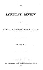The Saturday Review of Politics, Literature, Science and Art