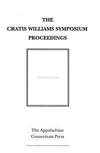 The Cratis Williams Symposium Proceedings