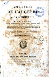 Application de l'algebre a la geometrie ouvrage adopte par l'universite par M. Bourdon