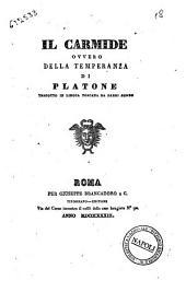 Il Carmide, ovvero Della temperanza di Platone