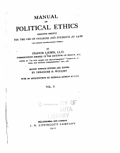 Manual of Political Ethics: Volume 2