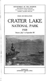 Rules and Regulations: The National Parks, 1920