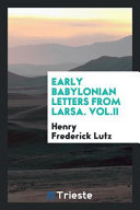 Early Babylonian Letters from Larsa PDF