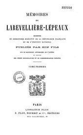 Mémoires de Larevellière-Lépeaux membre du Directoire exécutif de la République française...
