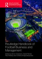 Routledge Handbook of Football Business and Management PDF