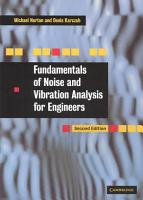 Fundamentals of Noise and Vibration Analysis for Engineers PDF