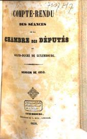 Compte-rendu des séances de la Chambre des Députes du Grand-Duché de Luxembourg: Session ordinaire, Volume3