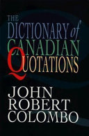 The Dictionary of Canadian Quotations PDF
