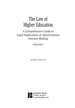 The Law of Higher Education, 2 Volumes