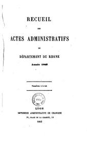 Recueil des actes administratifs - Rhône, Préfecture