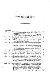 Napoléon III. publiciste: Sa pensée cherchée dans ses écrits. - Analyse et appréciation de ses oeuvres
