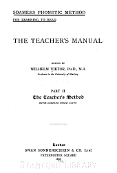 The Teacher's Manual: The teacher's method