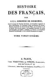 Histoire des Français: Volume21