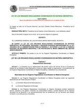 Ley de los Órganos Reguladores Coordinados en Materia Energética