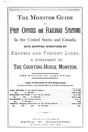 The Monitor Guide to Post Offices and Railroad Stations in the United States and Canada PDF