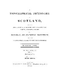 A Topographical Dictionary Of Scotland Book PDF