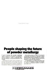 The International Journal of Powder Metallurgy   Powder Technology